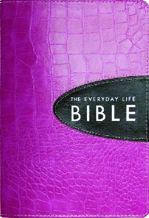 Amplified Everyday Life Bible Joyce Meyer Pink/Expresso Bonded Leather