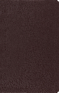 ESV Large Print (10 5) Thinline Reference Bible Brown Top Grain Leather  E53278