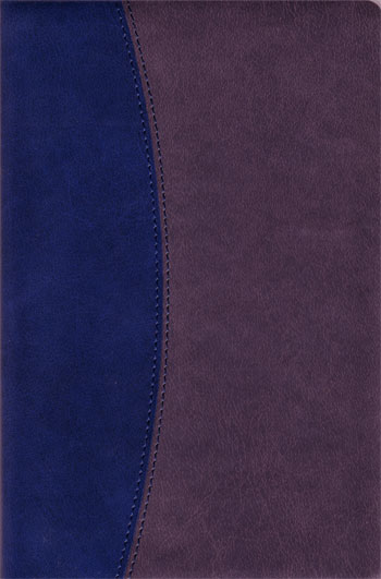 NASB Ultrathin Reference Bible Two-tone Edition Blue/Grey Leathertex